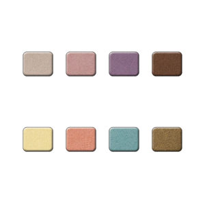 25 Mineral Eyeshadow color chart
